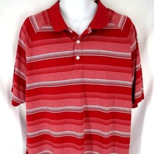 Oakley Mens Size 2XL 2XLarge Red Striped Shirt
